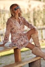 Romantyczna Sukienka w Kwiatowy Wzór - Model 1