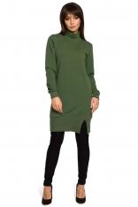 Zielona Bluzo-Tunika z Golfem