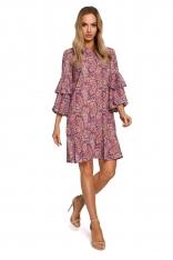 Luźna Sukienka w Tureckie Wzory - Model 2