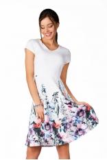 Rozkloszowana Sukienka z Dołem w Kwiaty