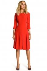 Czerwona Sukienka z Obniżonym Stanem
