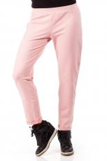 Różowe Dresowe Spodnie z Dzianiny