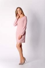 Różowa Klasyczna Mini Sukienka Dzienno-wizytowa
