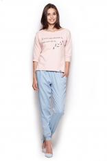 Spodnie Typu Pumpy - Błękitne
