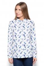Koszula ze Wzorem Kolorowych Piór Wzór 56