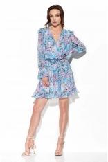 Wzorzysta Sukienka Kopertowa - Druk 14