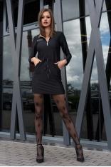 Czarna Sukienka w Sportowym Stylu