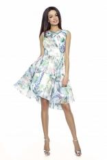 Zwiewna Letnia Sukienka we Wzory - Wzór 1