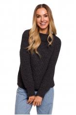 Klasyczny Sweter z Półgolfem - Grafitowy