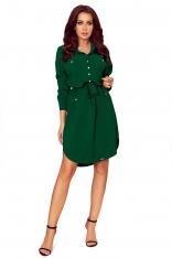 Zielona Sukienka o Koszulowym Kroju Szmizjerka