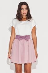 Rozkloszowana Różowa Spódnica z Kokardą