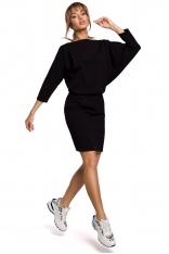 Sukienka Sportowa z Dekoltem V na Plecach - Czarna