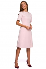 Sukienka z Kopertowym Dołem - Różowa