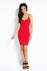 Czerwona Sukienka Bodycon z Odkrytymi Plecami