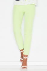 Zielone Kobiece Klasyczne Spodnie na Gumie