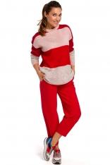 Klasyczny Sweter w Kolorowe Pasy - Model 2