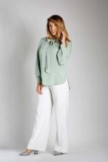 Zielona Elegancka Bluzka z Wiązaniem PLUS SIZE