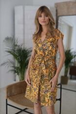 Sukienka do Samodzielnego Wiązania - Kamelowa