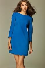 Wyjątkowa Niebieska Sukienka z Dekoltem na Plecach