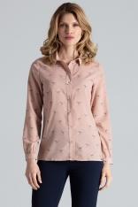 Różowa Koszula Damska w Kolibry