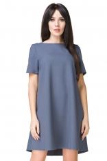 Niebieska Sukienka o Kształcie litery A