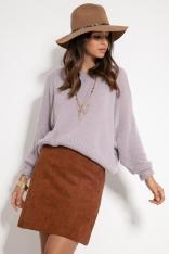 Milutki Sweter Oversize - Fioletowy