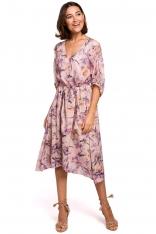 Sukienka midi w Kwiaty - Model 2