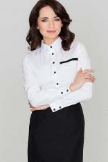 Elegancka Biała Koszula w Nowoczesnym Stylu