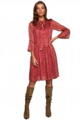 Sukienka z Falbankami w Kropki - Model 2