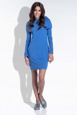 Niebieska Komfortowa i Kobieca Sukienka Mini