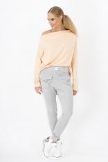 Szare Spodnie baggy z dużymi kieszeniami