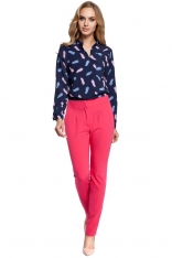 Eleganckie Różowe Spodnie Cygaretki