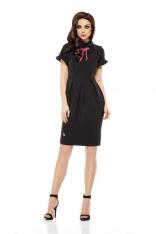 Czarna Sukienka Koktajlowa o Ołówkowym Kroju