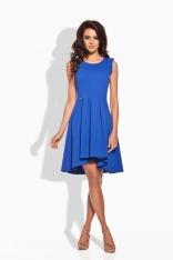 Rozkloszowana Asymetryczna Chabrowa Sukienka