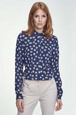 Klasyczna Bluzka Koszulowa Wzór Dynie