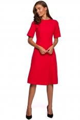 Sukienka z Kopertowym Dołem - Czerwona