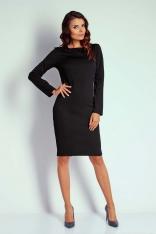 Czarna Dopasowana Sukienka przed Kolano