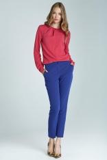 Niebieskie Klasyczne Wąskie Spodnie Cygaretki