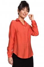 Pomarańczowa Klasyczna Koszula z Pagonami
