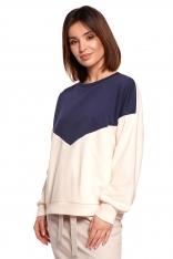 Bawełniana Bluza w Panele Kolorystyczne - Model 2