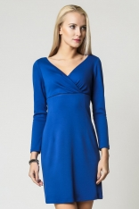 Chabrowa Klasyczna Sukienka Zakładana pod Biustem