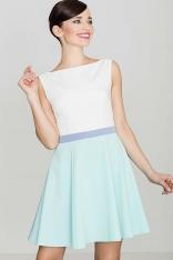 Romantyczna Sukienka bez Rękawów - Zielona