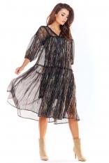 Zwiewna Wzorzysta Sukienka z Szyfonu - Wzór 3