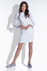 Ecru Komfortowa i Kobieca Sukienka Mini