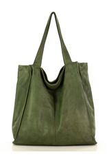 Zielona  Torebka Miejski Shopper Bag MARCO MAZZINI