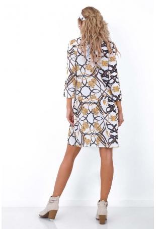 Krótka Sukienka w Oryginalny Wzór