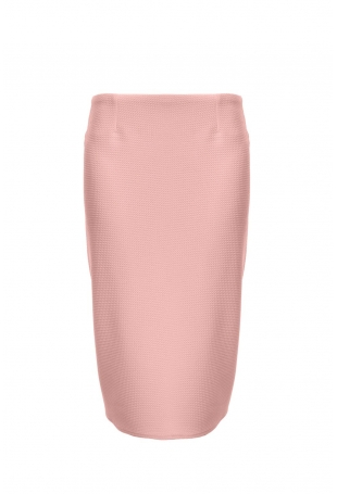 Pudrowa Elegancka Ołówkowa Spódnica