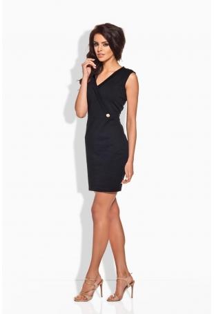 Czarna Sukienka z Kopertową Górą