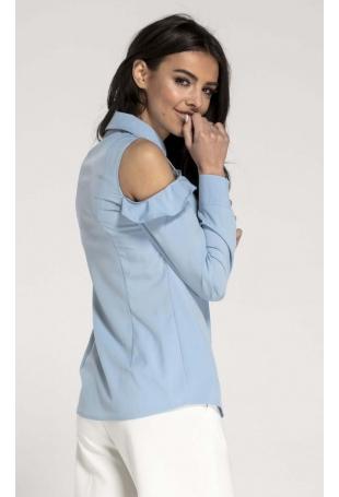 Błękitna Koszula z Falbanką