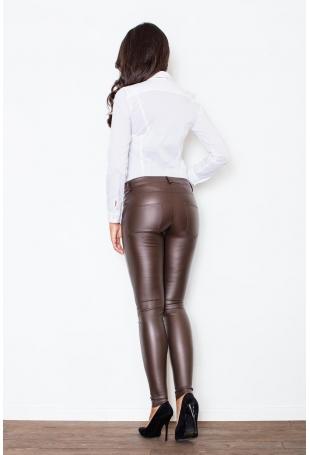 Elegancka Biała Koszula z Czarną Kokardą
